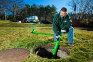 Cleaning a Septic Tank